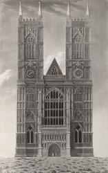 Westminster Abbey. Geometrical Elevation of the West Entrance from actual measurements